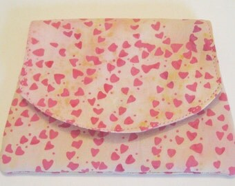 Tiny Pink Hearts Batik Wallet