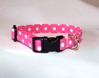 Pink Polka Dot Collar for Your Pup