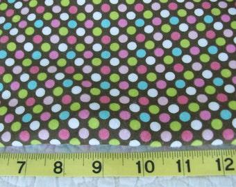 Polk Dot  Flannel  Design Flannel  Cotton Fabric   1/2 Yard