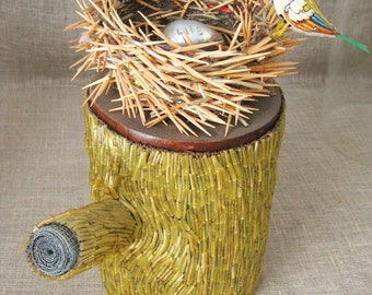 Birds Nest , Wil Shepherd , Folk Art Sculpture , Nest , Handmade , Folk Art , Assemblage , Recycled Materials , Wil Shepherd Studio