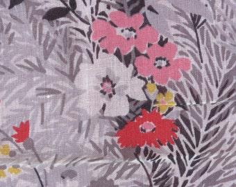 Vintage Floral  PRINT Semi-Sheer Lightweight Fabric