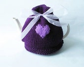 Heart Tea Cosy in Purple - Other Colours Available