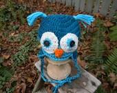 Crocheted Baby Owl Hat