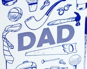 Letterpress Father's Day Card - Dad Stuff