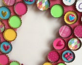 Bright butterfly &  friends bottle cap vertical frame