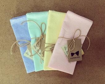 Florent - White Pocket Square, Blue Pocket Square, Grey Pocket Square, Purple Pocket Square, Pink Pocket Square, Yellow Pocket Square