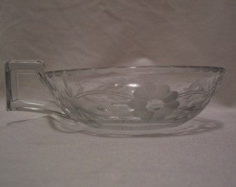 Heisey, Nappy, Heisey Nappy Bowl, Engraved Glass, Open Jam And Jelly's