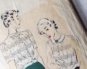 Vintage Vogue Blouse Pattern-8338- size 18