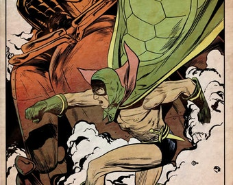 Green Turtle, First Asian-American Superhero Poster by Steve Lieber