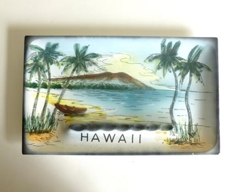 Vintage 1960's HAWAII Ceramic Souvenir Ashtray