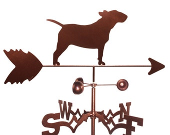 Hand Made Bull Terrier Dog Weathervane NEW