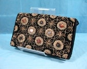 50s Vintage Purse // 1950s Black Velvet Clutch by Adolfo // Beads and Agate Design