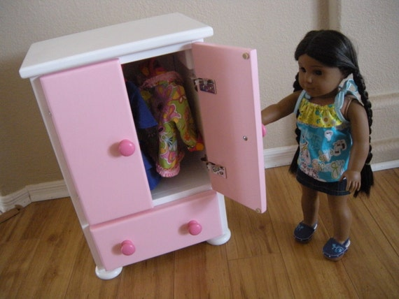 Doll Armoire Doll Dresser Doll Closet for by ...