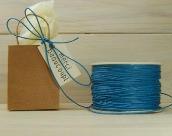 Full Spool Denim Blue 1mm Wax Cotton