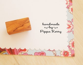 Sweet and Simple Handmade by Custom Olive Wood Stamp