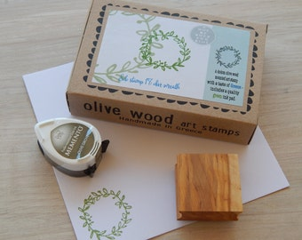 Olive Wreath- Boxed Greece Inspired Stamp and Ink Pad