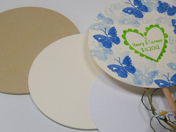 Extra Large 4.37inch Quality Cardstock Rounds (10) in 3 Cardstock Types