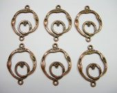 Antique Copper Plated Circular loops - links - chandelier findings - 6