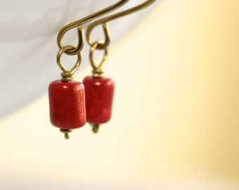 Red Glass Earrings - 'Divine Atheist'