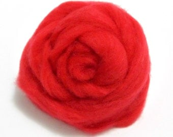10g Super Fast felting Short Fiber Wool Perfect in Needle Felt and Wet Felt Red V106