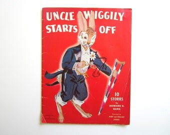 Vintage Book  Uncle Wiggily Starts Off by Howard R Garis Softcover Illustrated Child's Book