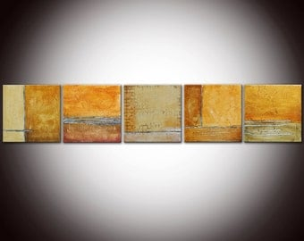 Original Abstract Painting, Mixed Media, Colorful Painting, Sculpted Textured Painting, Abstract Art , 60x12