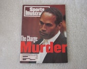 "Vintage June 27, 1994 "" Sports Illustrated "" O. J. Simpson Cover "" The: Murder """