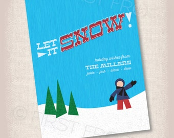 Let It Snow... Printable Christmas Holiday Card