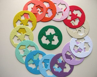25 Seed Paper Recycle symbols