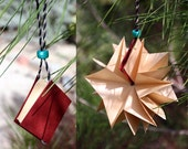 Star Book Ornament -- Red