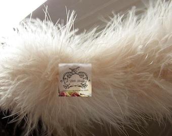 Marabou Boa Feathers Bone Creamsicle