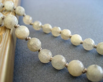 Labradorite Knotted Necklace