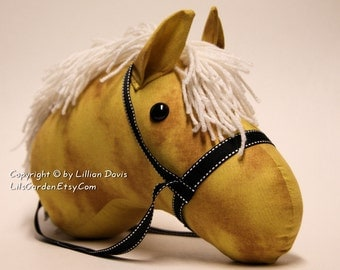 Palomino, Stick Horse Head, Made to order, With or Without Stick