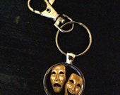 Comedy and Tragedy Image Key Chain