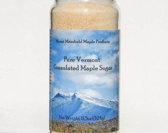 Pure Vermont Maple Granulated Sugar- 11.5oz Jar