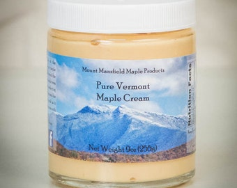 Pure Vermont Maple Cream- 9oz Jar