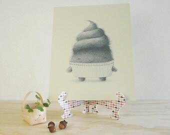 Cupcake Monster - Giclée Print