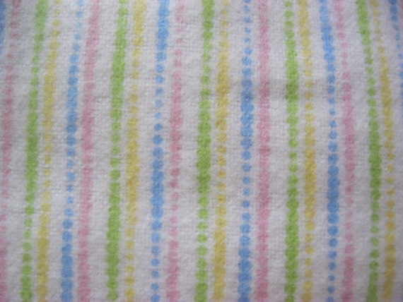 Pastel stripe cotton flannel fabric baby girl pink yellow for Pastel galaxy fabric