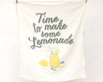 Lemonade Recipe Towel : Flour Sack Kitchen Tea Towel for the Home