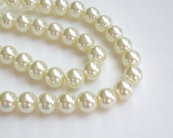 lot of 300  Vintage White high quality 8mm Pearl Beads