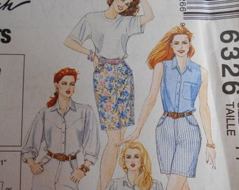 McCalls 6326 5 hour jeans/skirt That Fit   Palmer & Pletsch sz 14 sewing pattern