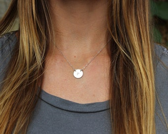 The Pop Star Necklace - Simple Any Initial Necklace