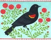 Redwing Blackbird Card