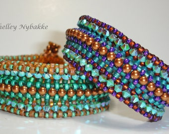 Rolling in the Beads  Bracelet Tutorial - pdf Instructions ONLY