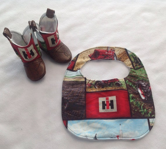 Baby Cowboy Boots And Matching Bib International
