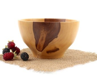 Wooden 6 1/2 Inch Elm Bowl / Wood Dish / Fruit Bowl