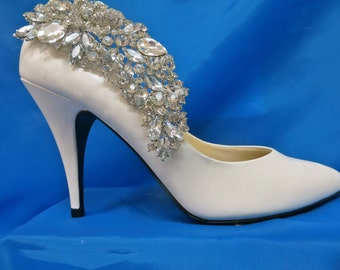 Bridal Shoe Clips-Crystal Shoe Clips - Rhinestone Shoe Clips- Wedding Shoe Clips