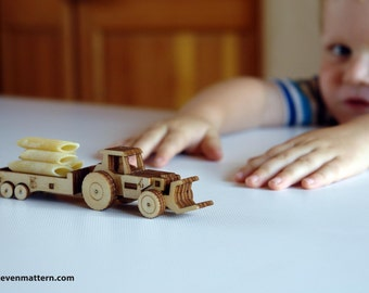 Tractor & Trailer Toy Kit - Build Your Own!