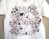 SALE / Original Handpainted T Shirt / Toddler Boy Girl / Original Illustration 4-6 T