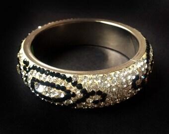 Stacking Bangle ,Diamante bangle bracelet, Wedding Bangles Bracelet ,Bridesmaids gifts, handmade bangles,BLACK crystal bangle HOLIDAY SALE!